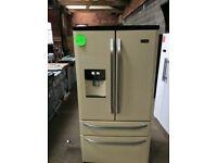 Ex Display RangeMaster Cream A+++Class Frost Free American Style Fridge Freezer With Water Dispenser