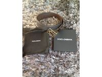 Authentic used like new condition Dolce & Gabbana belt leather size 38.5 with dust bag and box