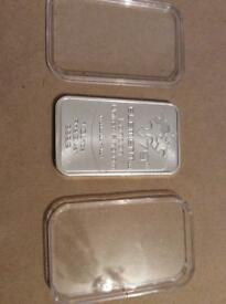 One ounce fine silver bullion