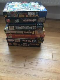 7 jigsaws 1000 pieces
