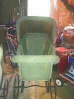 Beautiful Antique Wicker Carriage
