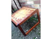 Retro Tiled Side or Occasional Table G Plan Style