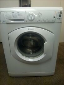 Hotpoint HF8B593P 1500 Spin 8KG Load Washing Machine in White A Rated