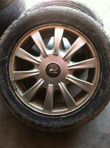 "4 - Hyundai Sonata 16"" 4 Bolt Alloiy Rims with Center Caps (fits up to 2005)"