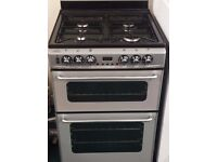 Newworld 60cm wide dual fuel double oven and grill cooker