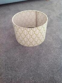 Green lampshade with leaf detail