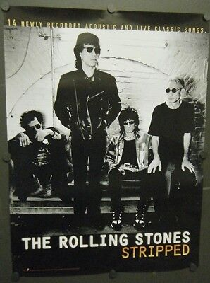THE ROLLING STONES PROMO POSTER STRIPPED 1995 MICK JAGGER