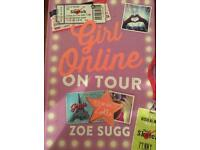 Girl online on tour by Zoe sugg (unused) hardback book