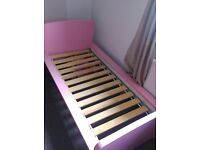 Pink toddler bed