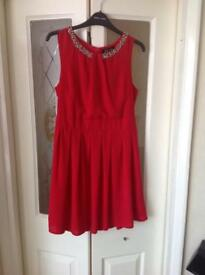 AD LIB red dress ladies size 10