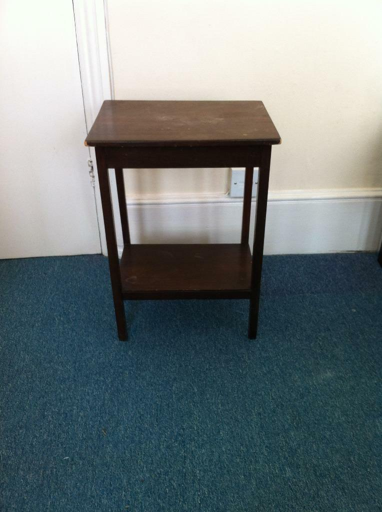 Small Wooden Dark Brown TableSide TableBedside Table  : 86 from www.gumtree.com size 764 x 1024 jpeg 86kB