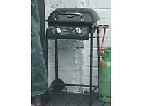 Gas BBQ fully working with wheels black colour