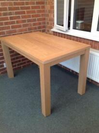 Wood 4 person dining table (collection only)