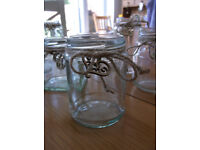 10 Decorated Jam Jars, for Flowers or Tealights, Wedding, BBQ, Party