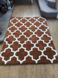 John Lewis pure wool rug, immaculate condition
