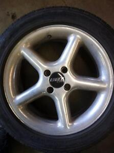"4 - Aftermarket 16"" 4X100 Alloy Rims with Center Caps"