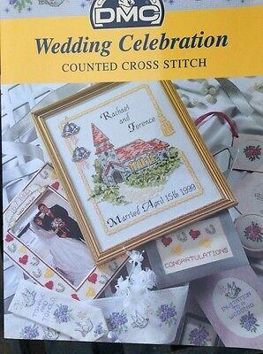 DMC WEDDING CELEBRATION Cross Stitch Pattern Chart Book Wedding Celebration