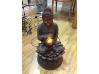 Stunning garden Buddha with led lights and water feature