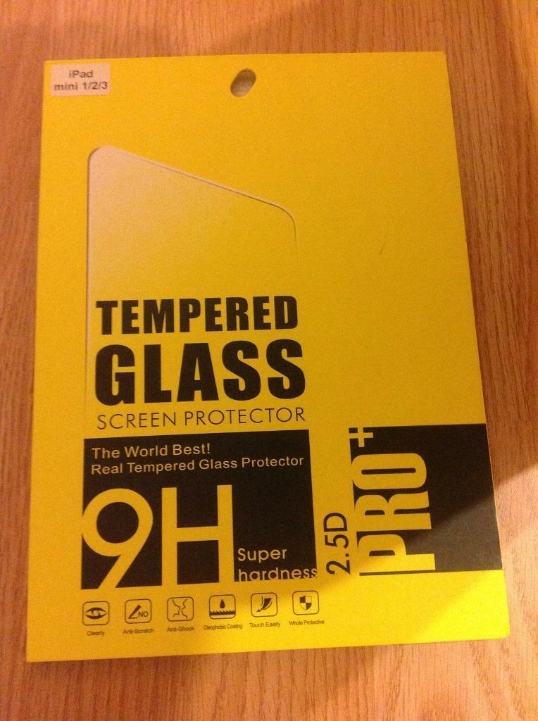 Tampered glass screen protector for ipad mini 1/2/3