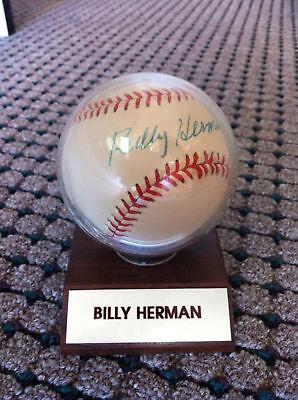 Billly Herman Autographed Baseball