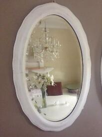 Antique Wave edged Shabby chic Mirror