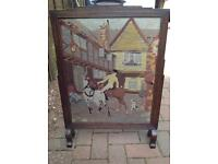 Vintage Tapestry Firescreen