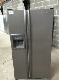 Samsung Silver A+++ Total No Frost American Style Fridge Freezer With Water Dispenser £300