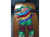 Teenage Mutant Ninja Turtle fancy dress outfit (age 5-6)