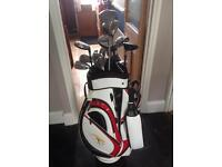 Full set of right handed golf clubs with bag - great second hand condition