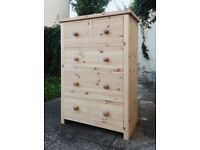 Deep Pine Chest of Drawers (80W 116H 42D)