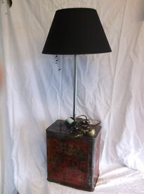A vintage table lamp