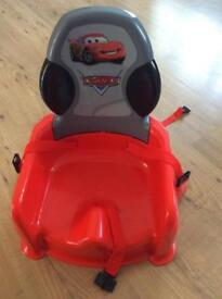 Disney cars booster seat high chair with tray