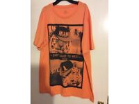 mens orange t/shirt xl
