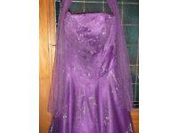 Tiffany Prom Dress - Beautiful deep purple Tiffany bling XS (size 10-12) prom dress for sale
