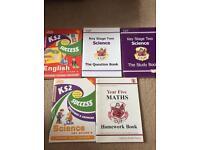 SATs study books.