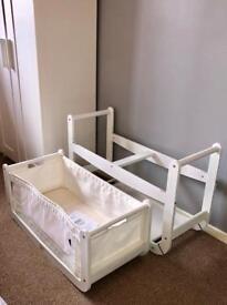 White Snuzpod - bedside crib