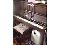 Allison upright piano - offers welcome