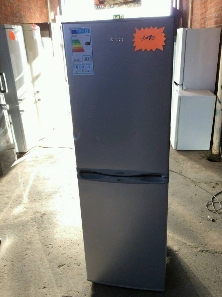 Silver A+ Class Swan Fridge Freezer In New Condition