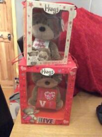 Two boxed teddies