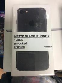 I PHONE 7 128GB matte black Unlocked