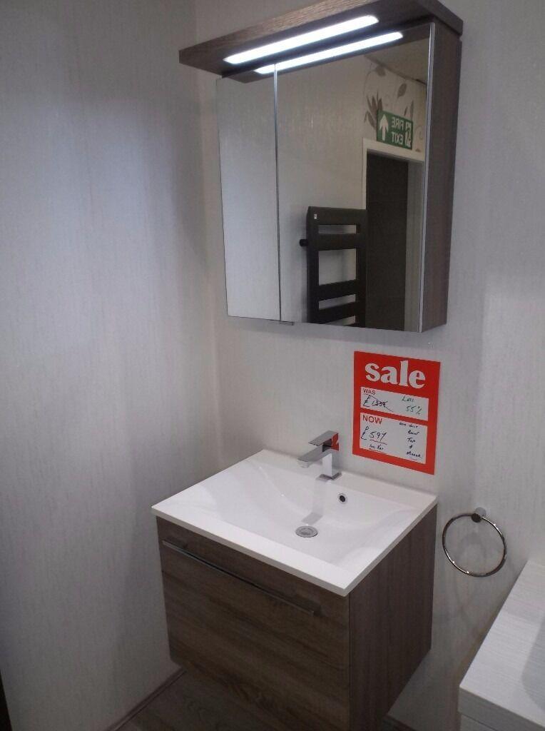 Ex Display Luxus Nova Bathroom Vanity Unit Led Mirror
