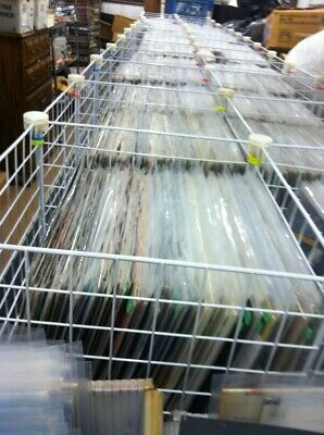 Large Lot of 2920 Sealed in Plastic 33 RPM LP Albums - Inventory Liquidation