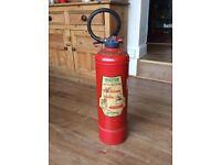 Vintage 60's Mini Max Water Fire Extinguisher Garage Forecourt