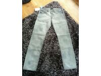 Diesel Black Gold authentic jeans, size 33 grey/silver brand new with tags slim fit