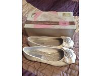 Flat Ivory Wedding Shoe
