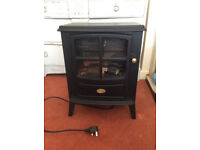 Dimplex Electric Log Burner Stove With Flame Effect, Matt Black