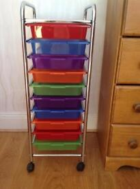 Ten Drawer Storage Unit/Trolley