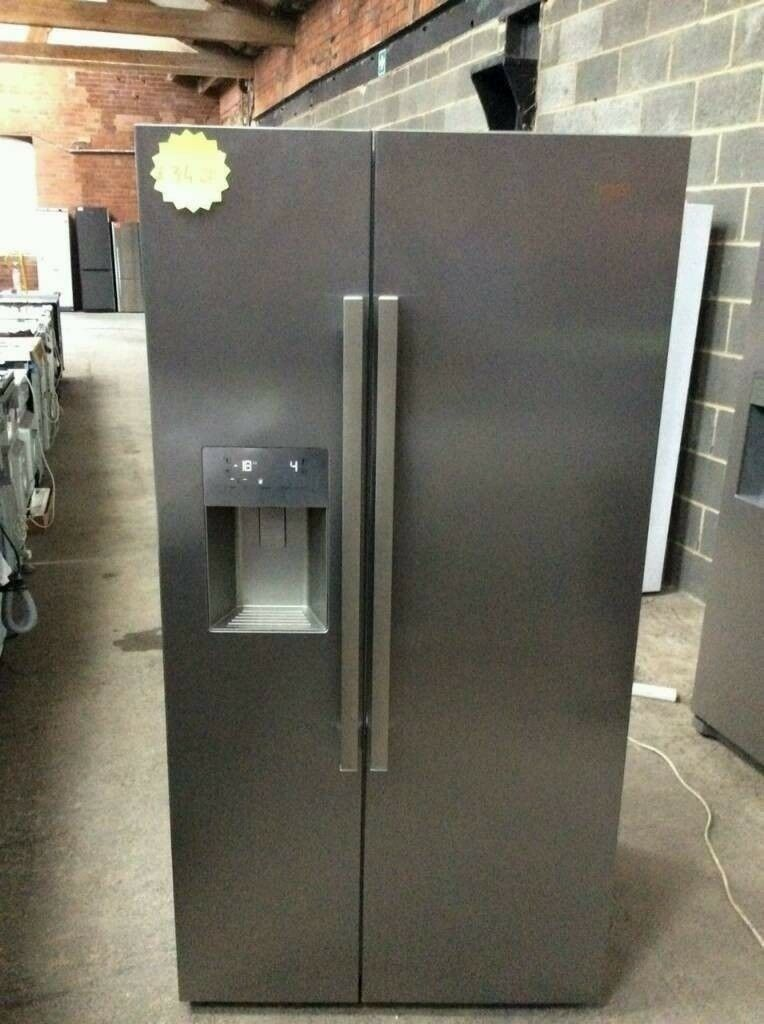 Stainless Steel A+ Class Beko Double Door American Style Fridge Freezer With Water Dispenser