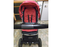 pink oyster 2 pushchair
