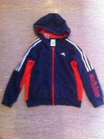 Boys Adidas jacket and t-shirt age 7-8